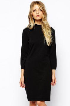 Eliza's Work Dress for Chilly Fall Days - Fashionista
