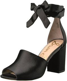 f573ac0d2a2b Sam Edelman Womens Odele Heeled Sandal Black Satin 11 Medium US     More  info could be found at the image url.