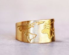 Travel Ring / Globe Ring / Travel Gift / World Map Ring / Everyday ring / Map Ring / Gift for Women / Mothers day gift / Graduation Gift