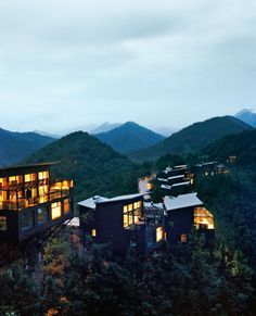 Naked Stables—so named for its au naturel eco-construction—is nestled in the secluded mountainous terrain around Moganshan, near Shanghai.