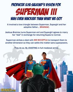 Superman: Renaissance man. | 20 Bizarre Scenes That Were Almost in Famous Movies | Cracked.com