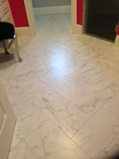 Vida Dolce Calacatta Porcelain Tile 12x24 On Walls With