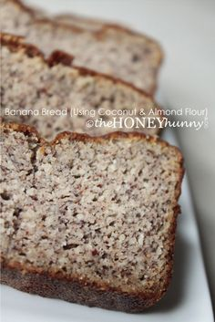 Banana Bread (Using Coconut & Almond Flour) by Comfy Belly