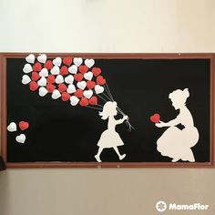 Mother's Day School Murals Mama - diy and joy Mothers Day Flower Pot, Mothers Day Decor, Mothers Day Crafts, Crafts For Kids, Diy Flowers, Paper Flowers, Mother Daughter Art, Mother's Day Activities, School Murals