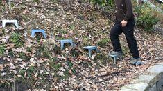 Hillside Garden, Garden Paths, Steep Hill Landscaping, Patio Edging, Small Water Gardens, Outdoor Steps, Garden Stairs, Garden Waterfall, Mosaic Garden