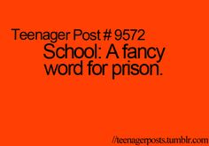During passing period i like to imagine everyone trying to find a way out....its pretty funny (: