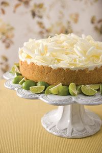 Key Lime Mousse Cake  If you haven't tried this - it is wonderful!  A Paula Deen recipe.  I have used a vanilla cookie crust as well as a chocolate crushed cookie crust!