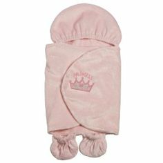 """Adora Baby Doll Accessories Snugglie - Pink by Adora. $14.99. Elastic hoodie. Appliqued/Embroiderd design. Fold over flaps secure with Velcro closure. From the Manufacturer                The perfect way to """"snuggle"""" and cuddle your baby doll.  Soft hooded pastel pink, faux fur wrap has two, elastic cuff pockets for the babies feet to fit inside and wrap is held securely by a Velcro closure.  Features an appliqued crown design with embroidered letters that spell..."""