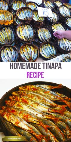 "Tinapa is a viand typically cooked by Filipinos during breakfast. Similar to other fish items such as Tuyo and Daing, Tinapa is also a dried fish fare, commonly sold in wet markets, ""bagsakan"" or fish Ports"