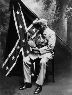 A Black Confederate soldier during the Civil War