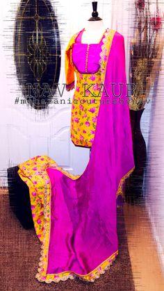 Another beautiful piece from my collection  Bringing floral raw silk LIMITED QUANTITY only  To order please email at maharanibq@gmail.com Or inbox me to fb www.facebook.com/couturebynav #silk#suitpunjabi#lovemystyle#yellow#embroidery#duppata#sardarni#karunaaltaur#kaur#maharanicouturebynav#magenta#yellow#designerduppata#punjabiwedding#punjabanmutiyar#majajan#nawabitohar#lovemypassionforfashion