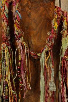 Key of Life - Handmade Hand Spun Art Scarf