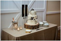 three tiered textured cake