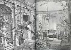 Late 19th century garden room with treillage effects [The French Archive of Design and Decoration by Stafford Cliff]
