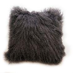 18 X 18 Mongolian Lamb Fur Handmade Pillow Case by GlamorousJILL