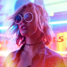 Neon Lights Photography, Night Photography, Creative Photography, Portrait Photography, Fashion Photography, Photography Themes, Landscape Photography, Grunge Look, Neon Girl