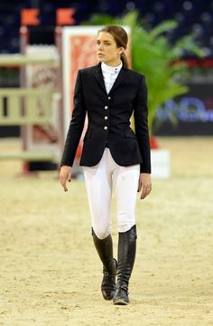 Princess Charlotte Casiraghi of Monaco at the Gucci Equestrian Masters. She's the granddaughter of Princess Grace, aka Grace Kelly. The royals of Monaco are fabulous and always chic!