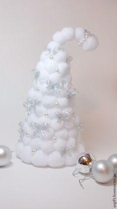 Купить Ёлочка новогодняя - белый, ёлка, ёлка новогодняя, елка интерьерная, украшение новогоднее