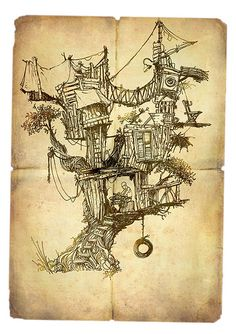Tree House by yaniv shimony | Private illustration | By: ~yaniv shimony~יניב שמעוני | Flickr - Photo Sharing!