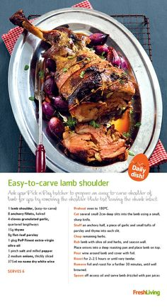 HEAVENLY ROAST: Make your #Easter Sunday meal a chilled affair with easy-to-carve #lamb shoulder. #dailydish #picknpay #freshliving