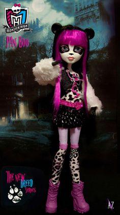 monster high: Custom Pan Boo : directa de la Isla del Dr Moreau