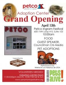 Grand Opening of Petco Adoption Center  @ Petco at Ingram Festival | San Antonio | Texas | United States