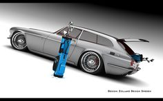 2013 Volvo 1800 ZES Concept Design by Zolland - This design study is a retro version of a practical sporstcar for the modern day.