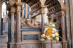 EXCERPT: Stamford - Lord Burghley's Tomb    William Cecil, Lord Burghley (1520-1598), is buried in St. Martin's Church, Stamford. He was the chief minister of Queen Elizabeth I. from her accession in 1558 until shortly before his death in 1598.