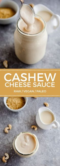 Cashew Cheese Sauce #vegan #paleo                                                                                                                                                                                 More