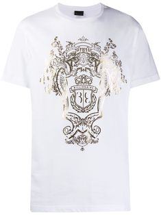 Billionaire printed crest T-shirt - White Crest Logo, Billionaire, Size Clothing, Women Wear, Short Sleeves, Mens Fashion, Casual, Prints, Mens Tops