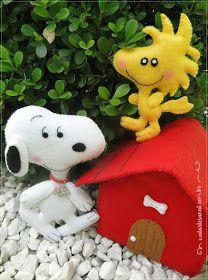 Apostila de Moldes Digitais Turma do Snoopy!   São 10 personagens + Casinha do Snoopy 3D de presente!   Acompanha fotos dos personagens...