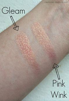 MAC eyeshadow dupe alert! Gleam by MAC vs. Pink Wink by Maybelline