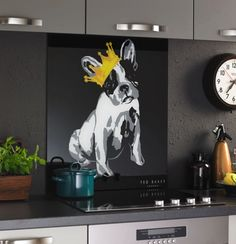 Ted Baker Cotton Dog Black glass splash back, available now