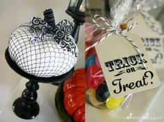 Vintage Halloween Dessert Table - Halloween Party Printables - Kara's Party Ideas - The Place for All Things Party