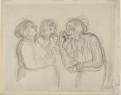 honore daumier drawings - Google Search