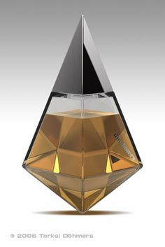 faceted, sharp, geometric, pointed, gold, metallic, slender