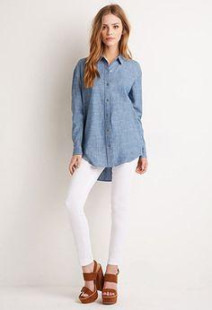 Chambray Pocket Shirt | Forever 21 - 2000096539