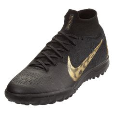 1ede9e951724 Nike Mercurial Superfly VI Elite TF Artificial Turf Soccer Shoe Black Metallic  Gold-9