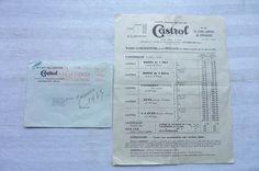 CASTROL TARIF CONFIDENTIEL ET DE REVENTE  1935   Réf 04 | Collections, Objets publicitaires, Publicités papier | eBay!