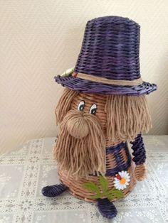 Willow Weaving, Basket Weaving, Paper Shoes, Egypt Art, Paper Basket, Paper Flowers Diy, Crochet Gifts, Gnomes, Wicker