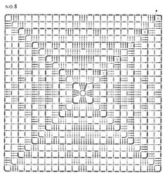 Crochet Tablecloth Pattern, Crochet Mandala Pattern, Crochet Quilt, Crochet Cushions, Crochet Blocks, Granny Square Crochet Pattern, Crochet Pillow, Crochet Diagram, Crochet Squares