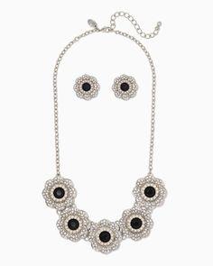 charming charlie   Obelia Flower Necklace Set   UPC: 450900513146 #charmingcharlie