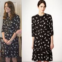 Shop Jonathan Saunders EDITION Black Bird Print Dress as seen on Duchess of Cambridge. Copy Princess Kate's style with the best repliKate dresses for less! Kate Middleton Outfits, Kate Dress, Jonathan Saunders, Dresses For Less, Duchess Of Cambridge, Royals, Celebrity Style, Celebs, My Style