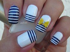 Uñas Nauticas, mas de 40 ejemplos – #Nautical Nails