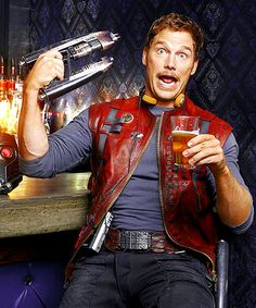 """Ladies and gentlemen: Star-Lord! (Chris Pratt as Peter Quill, """"Guardians of the Galaxy"""")"""