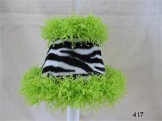 Funky Fluffy Zebra Shade Chandelier Shades - aBaby.com | Girls ...