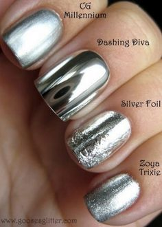 Silver Nail Polish #nails #nailart