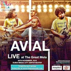 We all know how it will be when alternative #Malayali #rock #band, #Avial gets on stage this #November @thegreatmela. It is going to be #legend-wait-for-it-ary! #lifeisamela and #itallhappensinbetween  #legendary #alternativerock #kerala #southindia #music #instamusic #artists #concert #songs #musiclover #musiclovers #comingsoon #thegreatmela #instaDubai #instagood #instafun #PicoftheDay #DubaiLife #MyDubai #dubai #India #mydxb