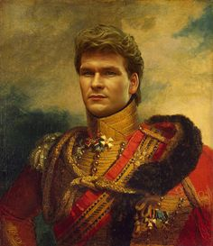 Patrick Swayze - replaceface Art Print by Replaceface | Society6.com