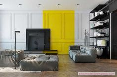 Say Yes To Yellow: Four Apartments That Flaunt Yellow Accents - http://www.beautifuldecoratingideas.com/interior-home-decoration/say-yes-to-yellow-four-apartments-that-flaunt-yellow-accents.html